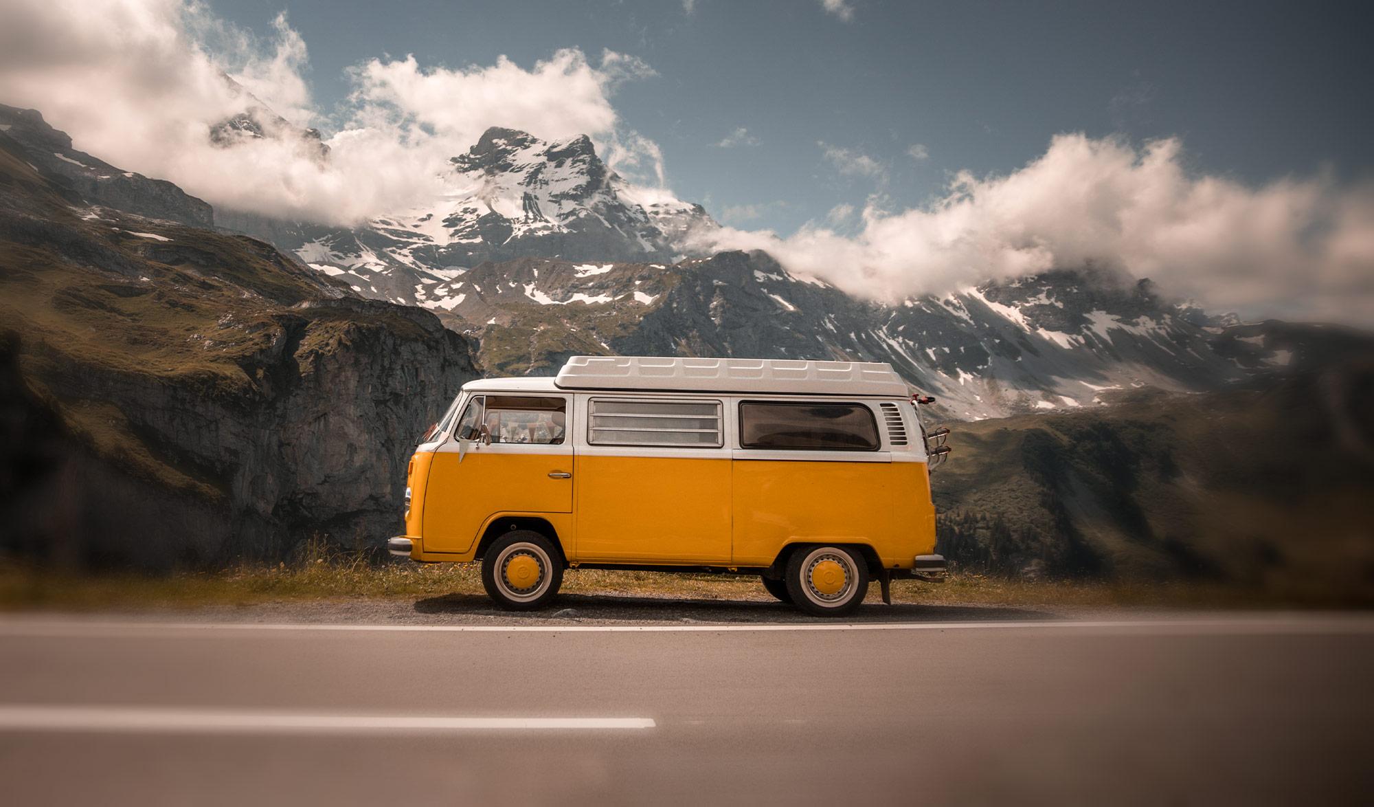 Van sur les routes de Suisse