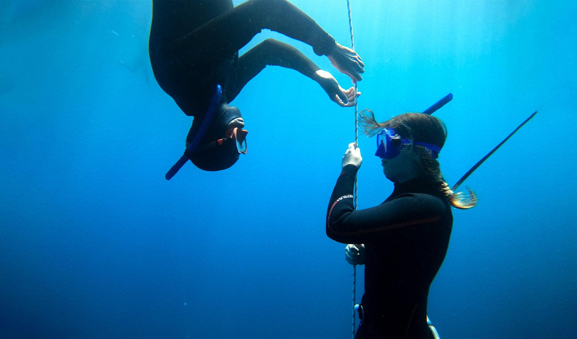 Bluenery académie, plongée sous marine en apnée