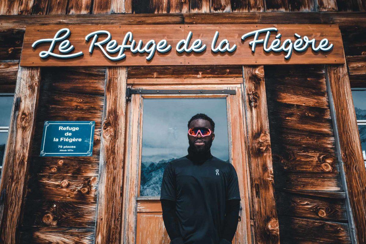 Cédric Ganguia débutant trailer au refuge de la Flégère