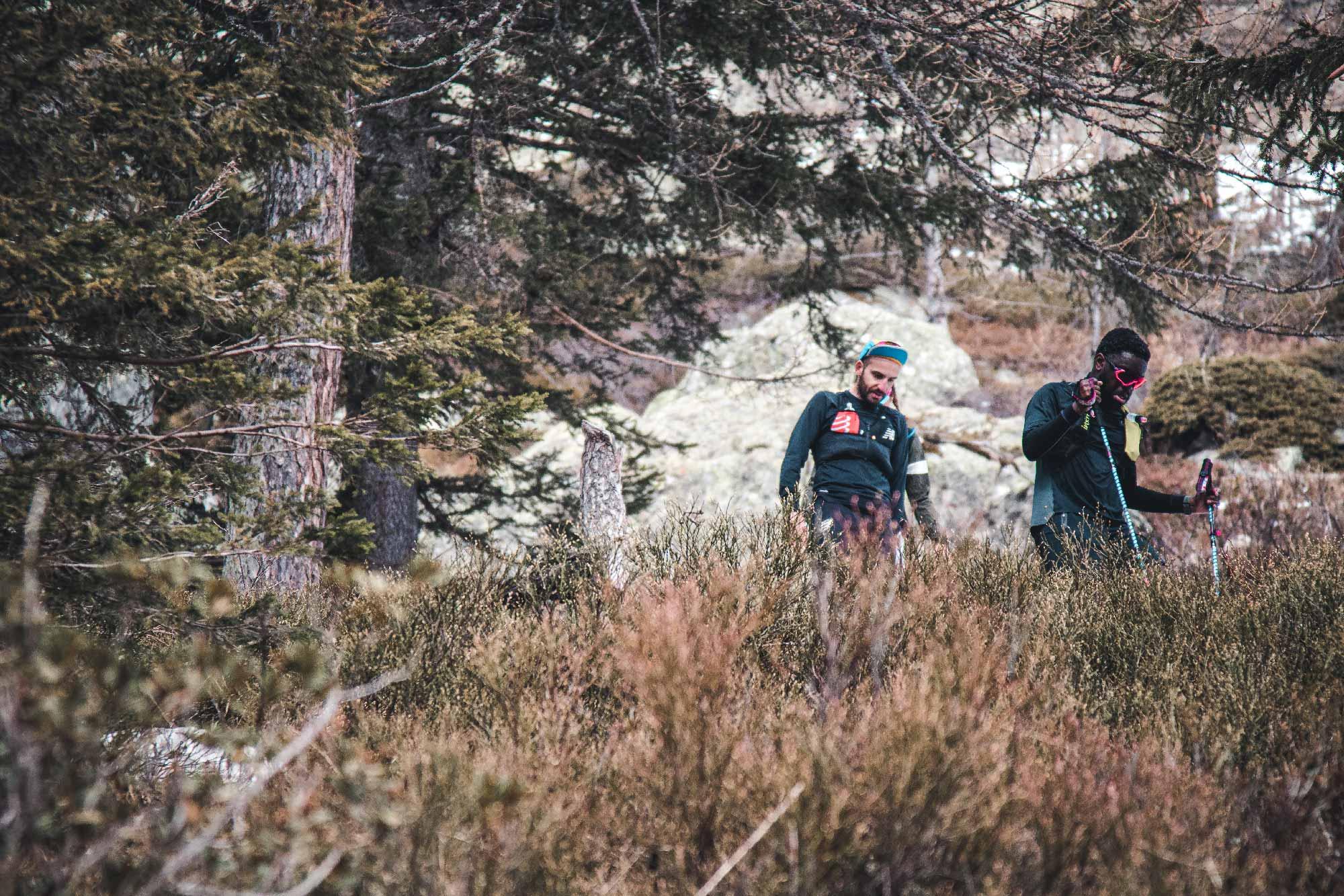 Cédric Ganguia débutant trailer sur les sentiers de Chamonix
