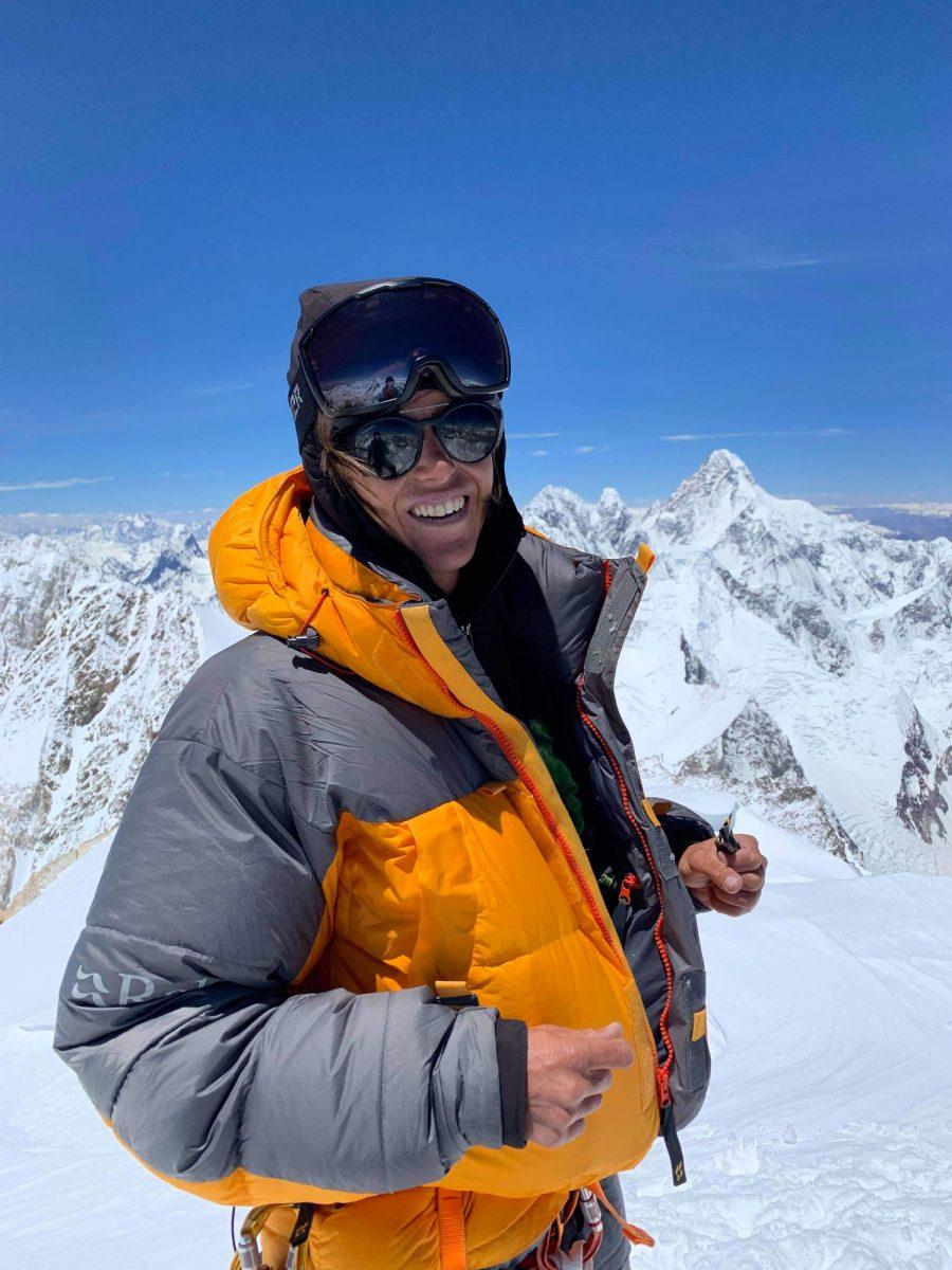 Portrait alpiniste ouverture à ski au Gasherbrum II