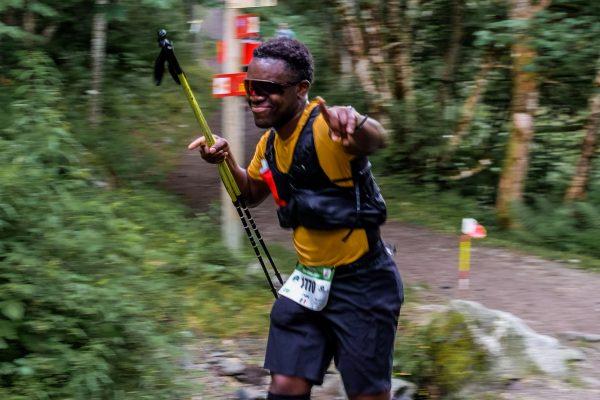 Cédric Ganguia débutant trailer sur le Marathon du Mont-Blanc