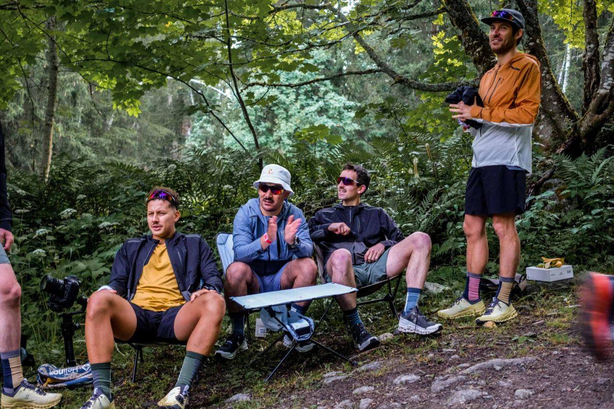 spectateurs sur le Marathon du Mont-Blanc