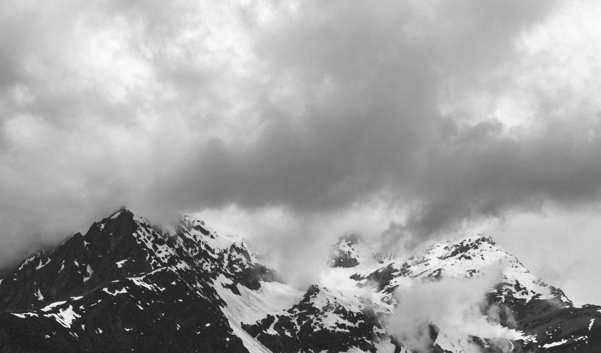 Mont Rose sous les nuages