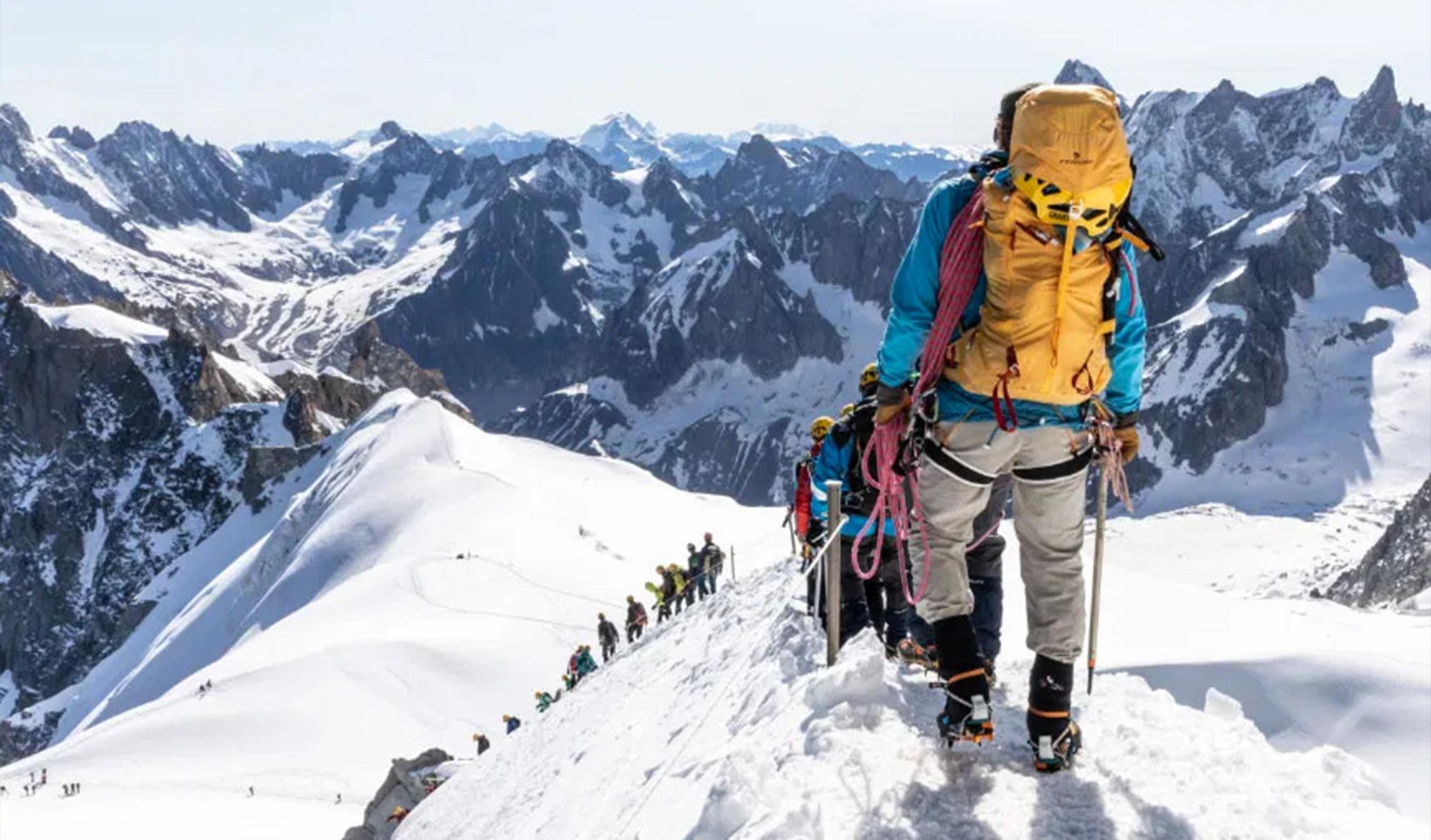 Plus grande cordée du monde à Chamonix