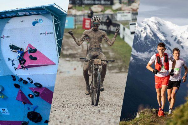 actualité outdoor au 05 juillet 2021 : coupe du monde d'escalade à Villars, coupe du monde de vtt aux gets, marathon du mont-blanc