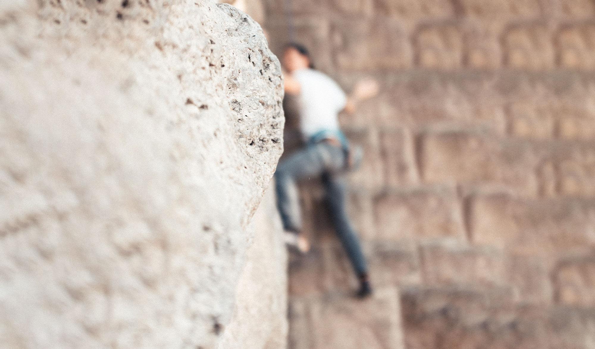 Escalade en free solo